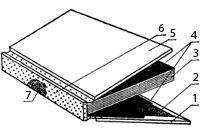 Переплетная крышка с накладными сторонками и накладным корешком